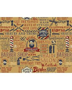 Photography Background in Fabric Barber Shop / Backdrop 1843