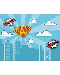Photography Background in Fabric Daddy Super Hero / Backdrop 1844