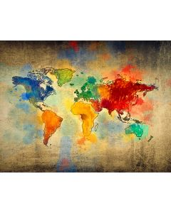 Photography Background in Fabric World Map / Backdrop 1865