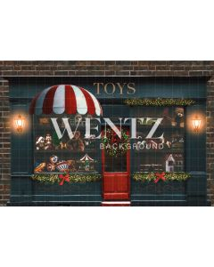 Photographic Background on Fabric Christmas Toy Store / Backdrop 2311
