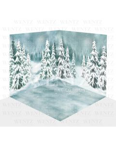 Photography Background in Fabric Christmas Scenario 3D / WTZ104