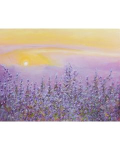 Photography Background in Fabric Hand Painted Lavender / Backdrop CW009