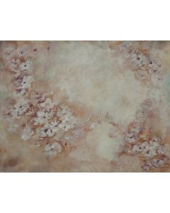 Photography Background in Fabric Flowers Hand Painted / Backdrop CW11