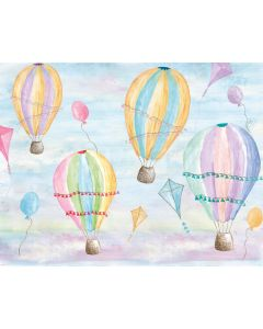 Photography Background in Fabric Summer Sky Balloon / Backdrop 1999