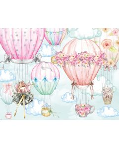 Photography Background in Fabric Summer Sky Balloon / Backdrop 2000