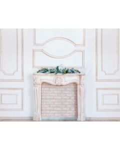 Photography Background in Fabric Christmas Fireplace / Backdrop 1919