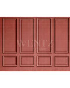 Photography Background in Fabric Boiserie Red / Backdrop 2100
