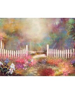 Photography Background in Fabric Fine Art Scenery Grove with Flowers / Backdrop CW43