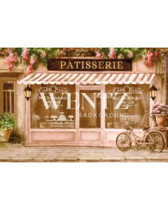 Photography Background in Fabric Paris Coffee / Backdrop CW68