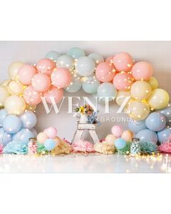 Photography Background in Fabric Scenarios Colorful Balloon / Backdrop 2204