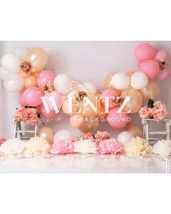 Photography Background in Fabric Scenarios Pink and Gold Balloon / Backdrop 2202