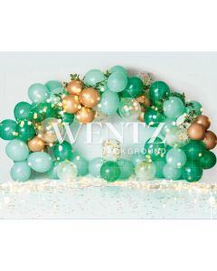 Photography Background in Fabric Scenarios Green Balloon / Backdrop 2200