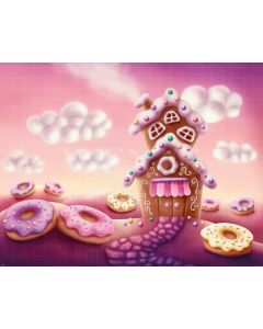 Photography Background in Fabric Candy House / Backdrop 1595