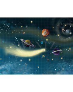 Photography Background in Fabric Space Planets / Backdrop 2105