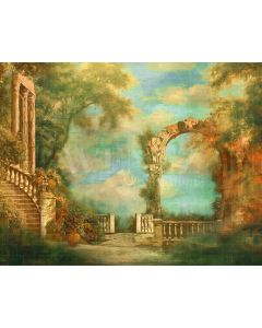 Photography Background in Fabric Fine Art Scenery Greek Staircase / Backdrop CW44