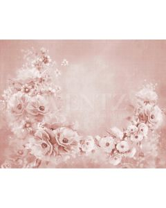 Photography Background in Fabric Flowers Fine Art / Backdrop CW40