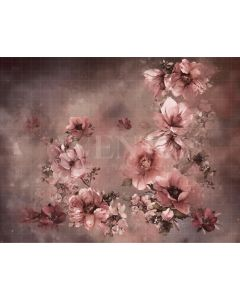 Photography Background in Fabric Flowers Fine Art / Backdrop CW37