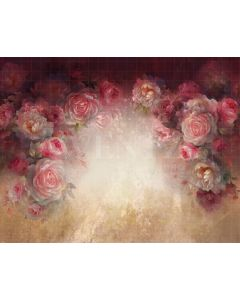 Photography Background in Fabric Flowers Fine Art / Backdrop CW28