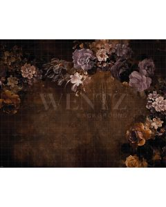 Photography Background in Fabric Flowers Fine Art / Backdrop CW30