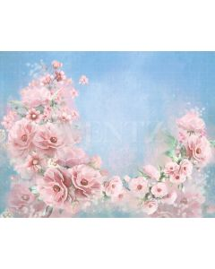 Photography Background in Fabric Flowers Fine Art / Backdrop CW35