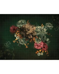 Photography Background in Fabric Flowers Fine Art / Backdrop CW39