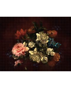 Photography Background in Fabric Flowers Fine Art / Backdrop CW33