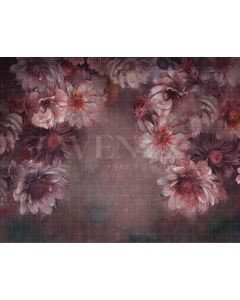Photography Background in Fabric Flowers Fine Art / Backdrop CW34
