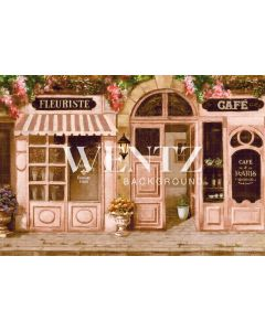 Photography Background in Fabric Florist Store Paris / Backdrop CW67