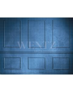 Photography Background in Fabric Boiserie Blue / Backdrop 2124