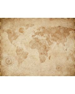Photography Background in Fabric World Map / Backdrop 2134