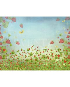 Photography Background in Fabric Strawberries / Backdrop 2082