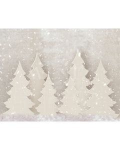Photography Background in Fabric Christmas Pines  / Backdrop 1925