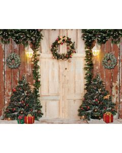 Photography Background in Fabric Christmas Door / Backdrop 1930