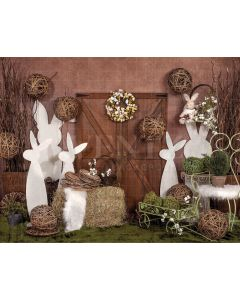 Photography Background in Fabric Easter Door Newborn / Backdrop 2018