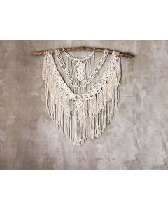 Photography Background in Fabric Boho Wall with Macramé / Backdrop 2066