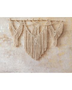 Photography Background in Fabric Boho Wall with Macramé / Backdrop 2065
