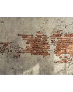 Photography Background in Fabric Concrete and Brick Wall / Backdrop 2095