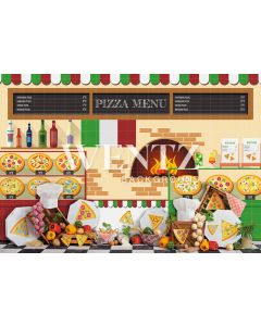 Photography Background in Fabric Pizzeria / Backdrop 2286