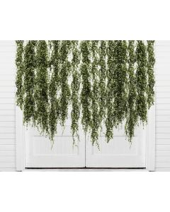 Photography Background in Fabric Door with Foliage / Backdrop 2145