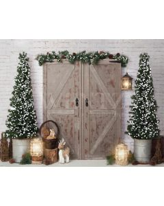 Photography Background in Fabric Christmas Door / Backdrop 1941