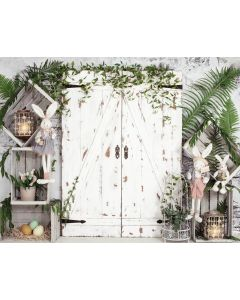 Photography Background in Fabric Easter Door Newborn / Backdrop 2030