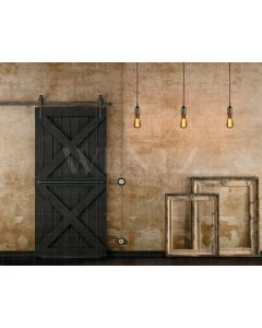 Photography Background in Fabric Scenery Door and Frames / Backdrop 2091