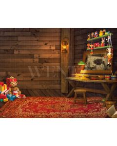 Photography Background in Fabric Christmas Toys / Backdrop 2147