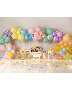 Photography Background in Fabric Scenarios Colorful Balloon / Backdrop 1931