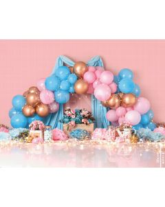 Photography Background in Fabric Scenarios Pink and Blue Balloon Newborn / Backdrop 2043