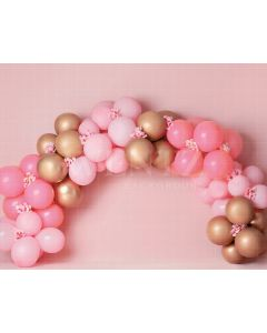 Photography Background in Fabric Scenarios Pink and Gold Balloon / Backdrop 2127