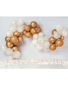 Photography Background in Fabric Scenarios White and Gold Balloon / Backdrop 2128