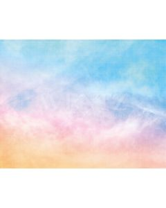Photography Background in Fabric Colorful  Sky Summer / Backdrop 1996