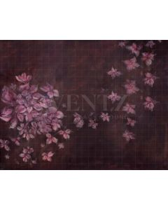 Photography Background in Fabric Flowers Fine Art Hand Painted / Backdrop CW15
