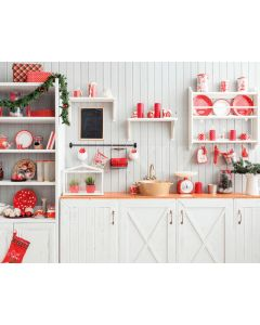 Photography Background in Fabric Christmas Kitchen / Backdrop 1900